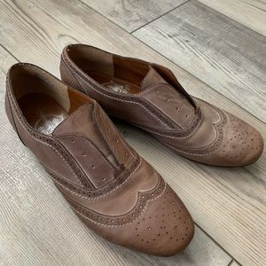 Crown vintage leather loafer oxford shoes